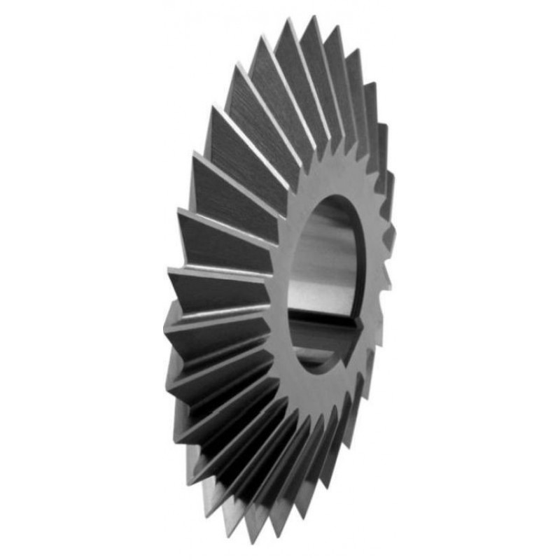 Frezy krążkowe kątowe dwustronne symetryczne DIN 847 HSS